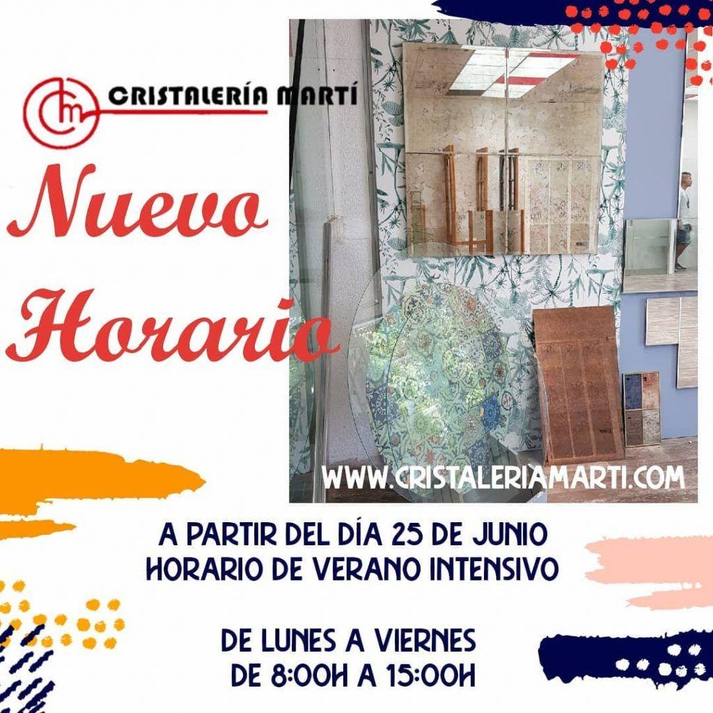 Horario-verano-2021-cristaleria-marti-alicante-www.cristaleriamarti.com-cristaleria-a-medida