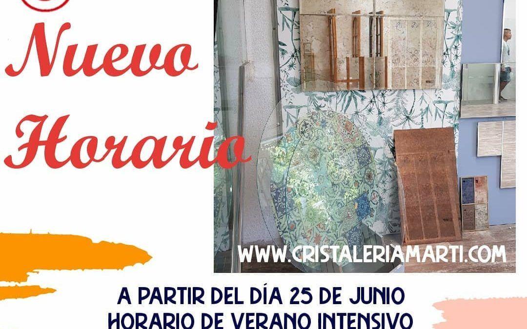Horario Verano 2021 Cristalería Martí